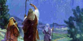 shepherds at Christmas