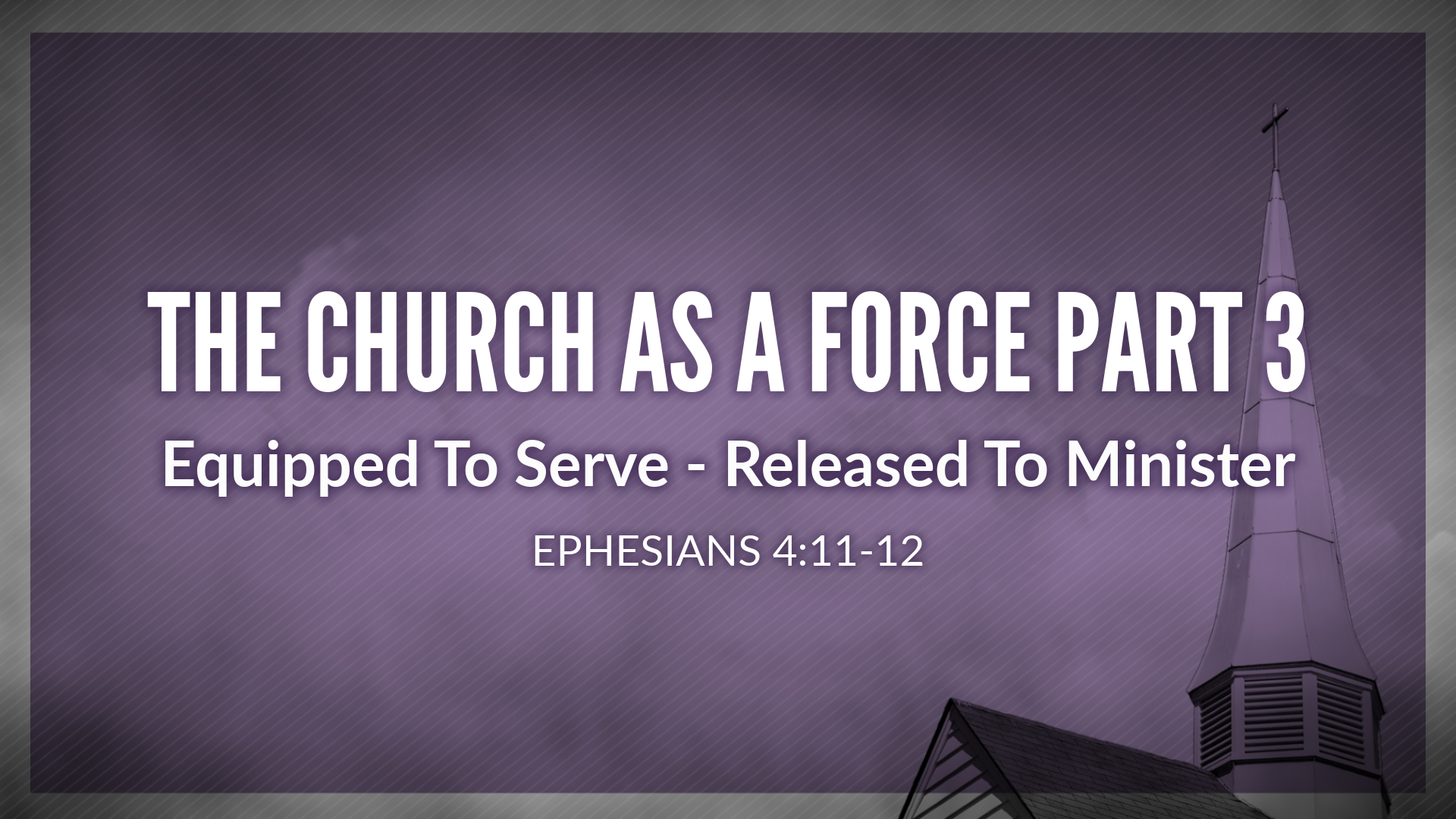 Equipped To Serve - Released To Minister